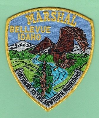 BELLEVUE MARSHAL's OFFICE PATCH ~ IDAHO ~ BEAUTIFUL ARTWORK & COLORS ~ EAGLE