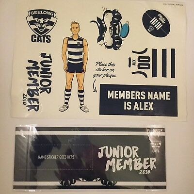 Geelong Fridge magnet 2018 Footy Fixture, stickers and plaque