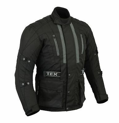 Mens Texpeed Jerico Black Textile Waterproof Motorcycle / Motorbike Jacket