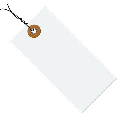 """Tyvek Shipping Tags Pre-Wired 5 3/4"""" x 2 7/8"""" White 1000/Case G13073"""