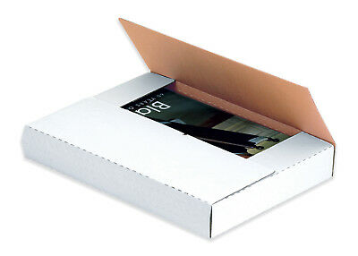 "Box Partners Easy-Fold Mailers 10 1/4"" x 8 1/4"" x 1 1/4"" White 50/Bundle M1081"