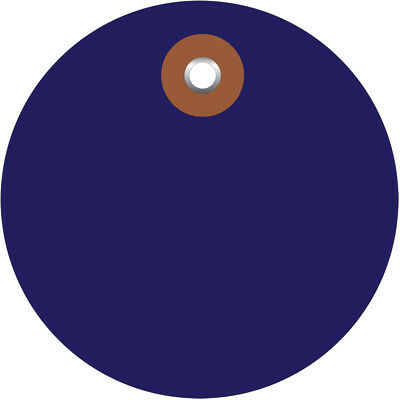 """Box Partners Plastic Circle Tags Pre-Wired 2"""" Blue 100/Each G26069W"""