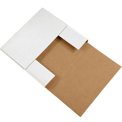 "Box Partners Easy-Fold Mailers 14"" x 14"" x 4"" White 50/Bundle M14144BF"