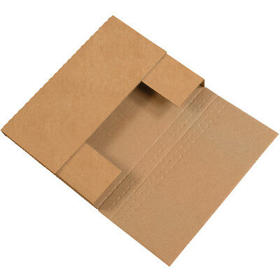 "Box Partners Easy-Fold Mailers 9 1/2"" x 6 1/2"" x 2"" Kraft 50/Bundle M962BFK"