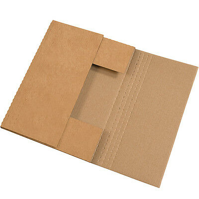 "Box Partners Easy-Fold Mailers 17 1/8"" x 14 1/8"" x 2"" Kraft 50/Bundle M4BKK"