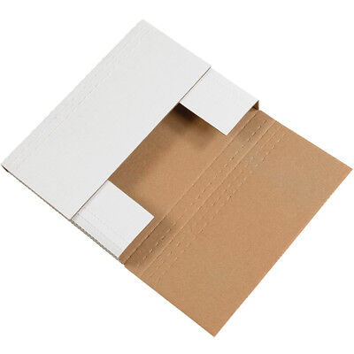 "Box Partners Easy-Fold Mailers 12 1/8"" x 9 1/8"" x 2"" White 50/Bundle M2BK"