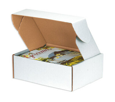 "Box Partners Deluxe Literature Mailers 11 1/8"" x 8 3/4"" x 4"" White 50/Bundle"