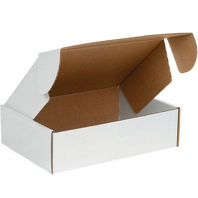 "Box Partners Deluxe Literature Mailers 14"" x 10"" x 3"" White 50/Bundle MFL14103"