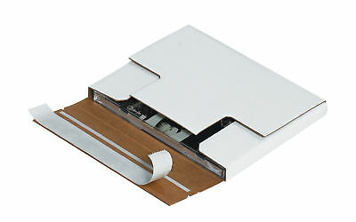 "Box Partners Self-Seal CD Mailers 5 7/8"" x 5 1/16"" x 1/2"" White 200/Bundle"