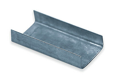 Box Partners Steel Strapping Seals Open/Snap On Regular Duty 3/4' Silver 5000