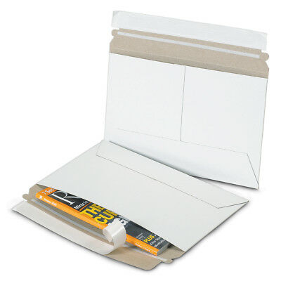 "Box Partners Side Loading Flat Mailers 12 1/4"" x 9 3/4"" White 100/Case RM129"