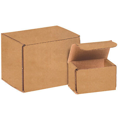 "Box Partners Corrugated Mailers 5"" x 5"" x 2"" Kraft 50/Bundle M552K"