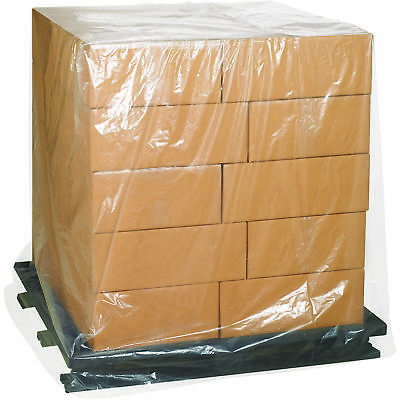 """Box Partners Pallet Covers 1 Mil 54"""" x 52"""" x 60"""" Clear 100/Case PC508"""