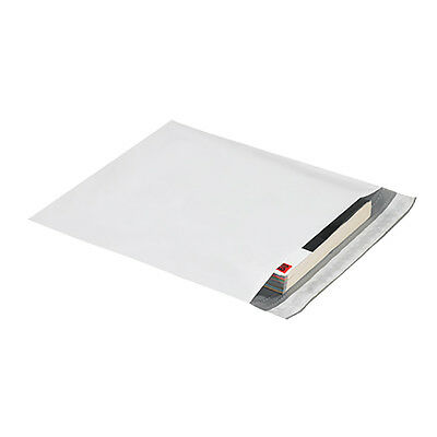 """Box Partners Expansion Poly Mailers 15"""" x 20"""" x 4"""" White 100/Case EPM15204"""