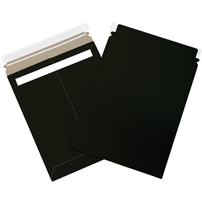 "Box Partners Self-Seal Flat Mailers 13"" x 18"" Black 100/Case RM1318BK"