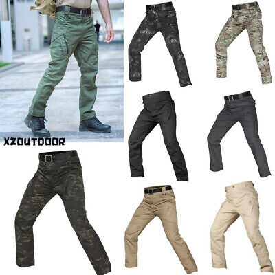 Army Men Pants Outdoor Military Tactical Resistant Combat Cargo Casual Hiking X9