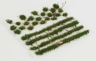 WWS 4mm Forest Ground Static Grass Modeling Tufts/Strips Mix -Railroad Warhammer