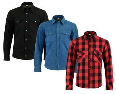 Mens Texpeed Reinforced & Protective Motorcycle / Motorbike Shirt - 3 Colours