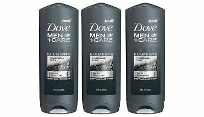 3 X Dove Men Care Elements Charcoal Clay Body And Face Wash 18 Oz For Sale Picclick