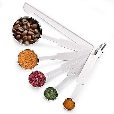 Measuring Spoon, Splaks Stainless Steel Set of 6 With Measuring Rulers for Dry