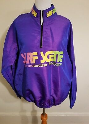 vintage veninis surf scene thermonuclear body gear windbreaker jacket One Size