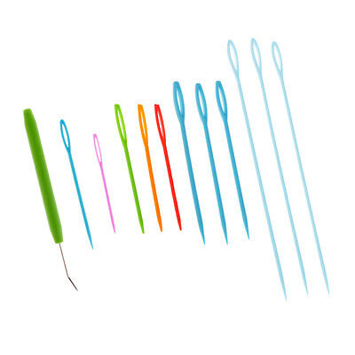 Knitting Loom Hook and 9pcs Plastic Needles Socks Scarves Weaving Craft Tool