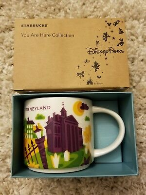 Disneyland Starbucks New Orleans Square You Are Here Haunted Mansion Pirates Mug