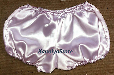 Pink Satin Pants Pantaloons Sissy Maid Adult Baby Fits With Underwear