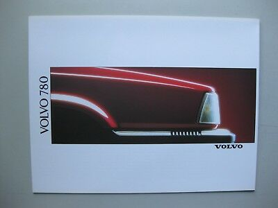 Volvo 780 folder brochure Prospekt Dutch text 6 pages 1989