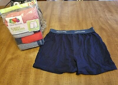 NEW Fruit of the Loom Boys Knit Boxers 5-Pack TAG FREE Size M 10-12