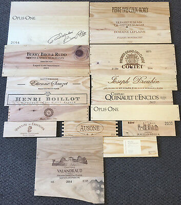 17 Wooden Wine Box End Panels from Wine Crates for Decoration Rare Wines Lot 13