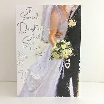 Jonny Javelin Special Daughter And Son In Law Wedding Day Card/V452