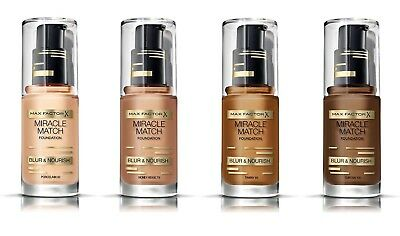 MAX FACTOR X - MIRACLE MATCH FOUNDATION – BLUR & NOURISH – 30ml