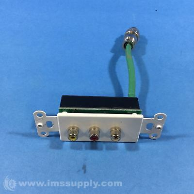 Rapidrun 40740 Composite Video + Stereo Audio Wall Plate Usip