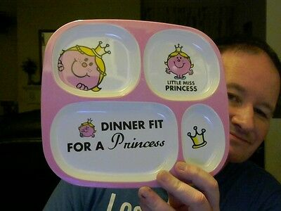 Little Miss Princess Multifunction Plate Perfect Birthday  Gift!