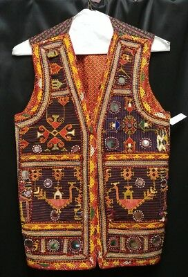 Handmade Vintage Boho Hippie Burning Man Festival Vest Made in Mexico
