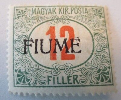 Fiume 1918 Italy, Hungarian Postage Due Stamps Overprinted, 12 f, MH, SC# J9