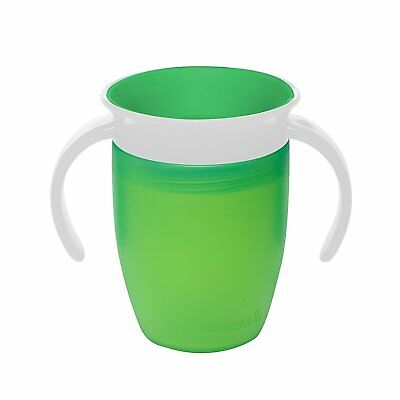 Munchkin Miracle 360 Degree Baby Toddler Kids Trainer Cup, 7 oz/207 ml, Green
