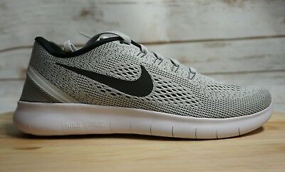 new style 314d8 accc3 norway nike free rn 831508 101 white black grey oreo mens running shoes new  8.5 337c6