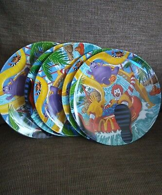 "2003 McDonald's Collectible 9.25"" Plastic Plate Water slide #40"