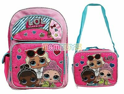 "LOL Surprise! 16"" Large School Backpack + Insulated Lunch Bag 2pc Set"