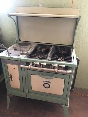 Antique Orbon Kitchen Stove Dual Wood/Gas