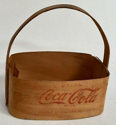 VERY RARE 1940s COCA COLA BALSA WOOD 6-BOTTLE CARRIER! Reduced Again!
