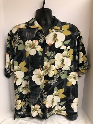NWT Tommy Bahama Men's M Medium Buttondown Camp Shirt Bombay Greetings Brown