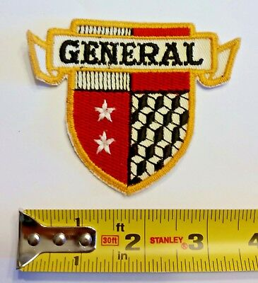 VINTAGE Embroidered Automotive Gasoline Patch UNUSED - General Tires Shield