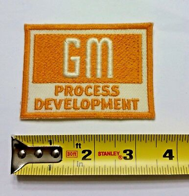 VINTAGE Embroidered Automotive Gasoline Patch UNUSED - GM PROCESS General Motors