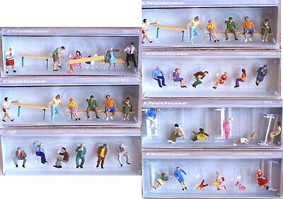 Preiser Seated Figures H0 scale 1:87, new in box - CHOOSE