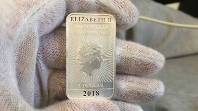 2018 Perth Mint 1oz Silver Dragon Rectangle Coin Bar NEW STOCK! WINTER SPECIAL!!