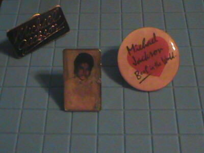 Michael Jackson Vintage  lapel Pins from the 80's