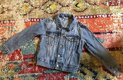 Village School Vintage Denim Jean Jacket Kids Size XXS